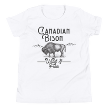 Load image into Gallery viewer, Canadian Bison Wild & Free Kids Tee