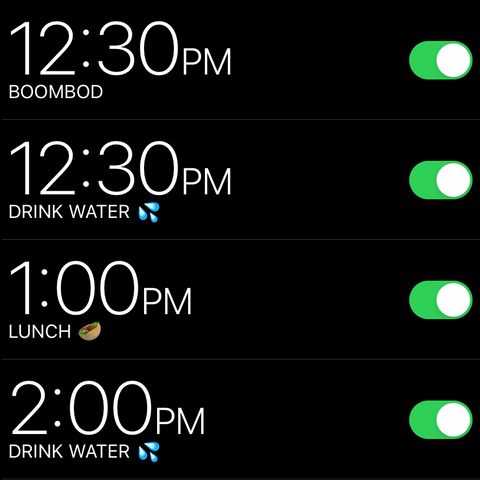 Schedule To Drink More Water