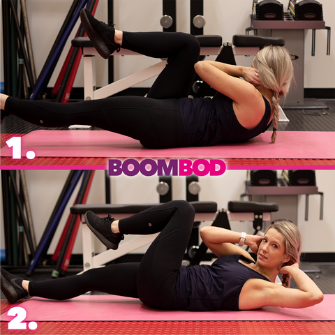 boombod 4 minute workout bicycle crunches