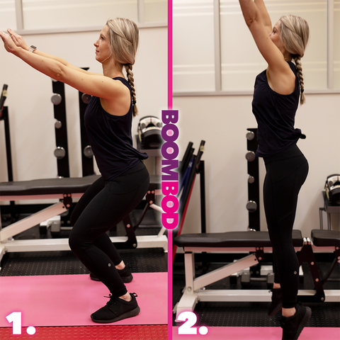 boombod 4 minute workout burpees