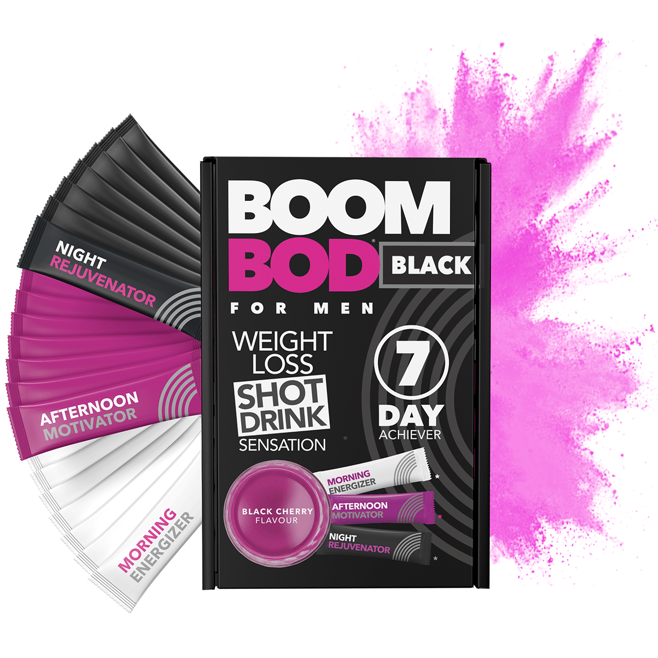 Boombod 7 Day Achiever Men's | Black Cherry | Weight Loss Shot Drink