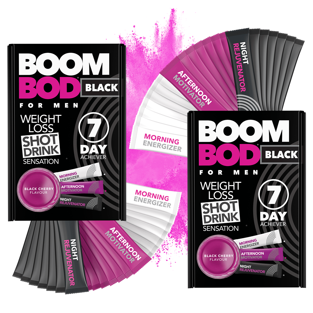 Boombod 14 Day Achiever Men's | Black Cherry | Weight Loss Shot Drink