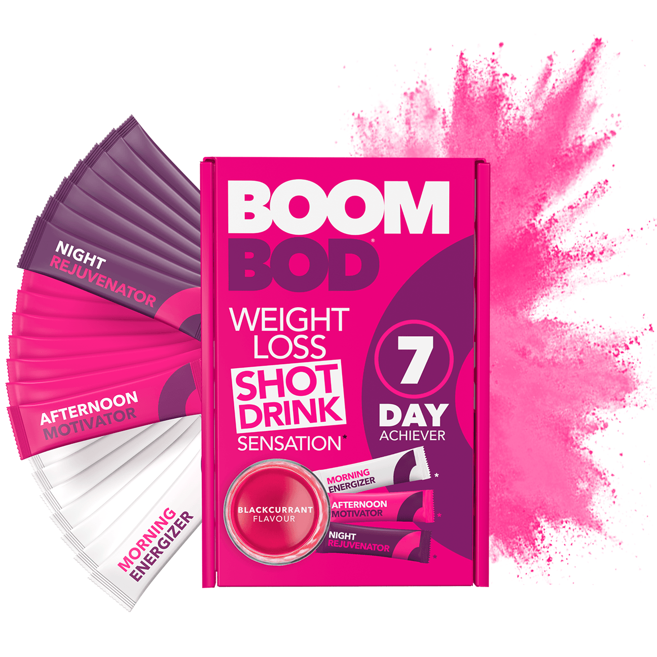 Boombod 7 Day Achiever | Blackcurrant | Weight Loss Shot Drink