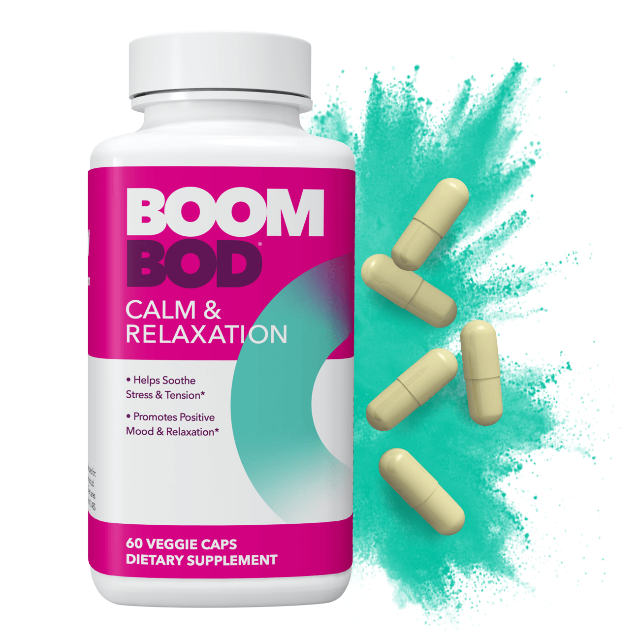 Boombod | Calm & Relaxation Supplement | 30 Day | 60 Count