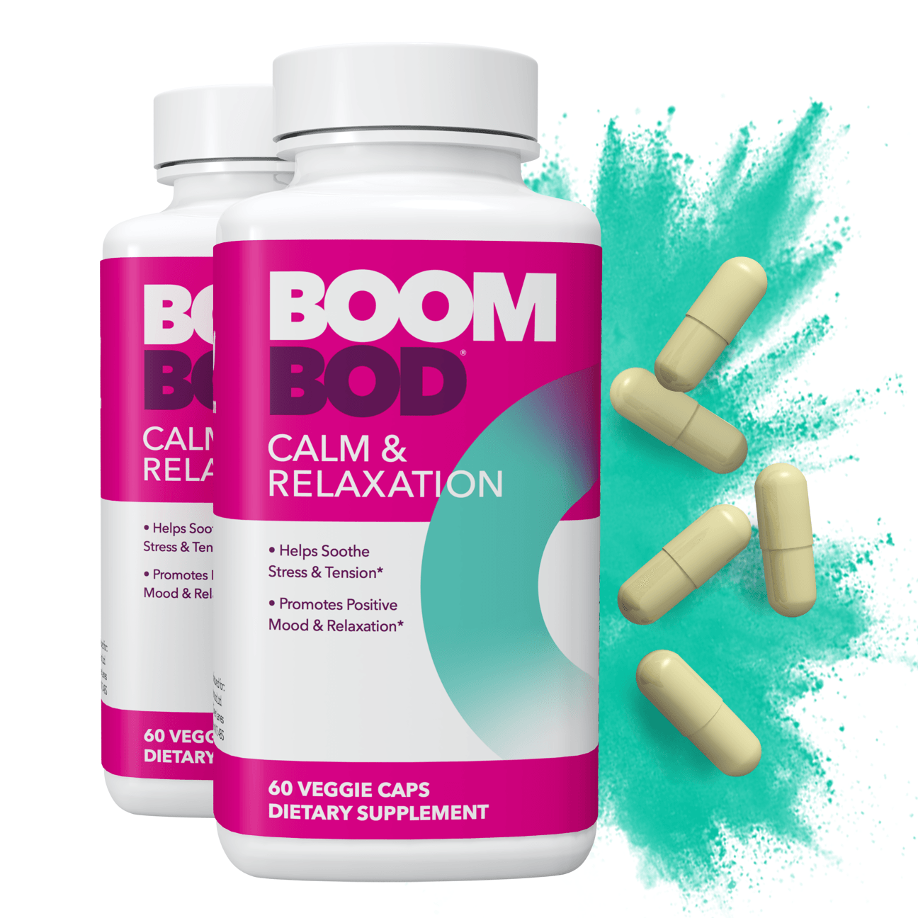 Boombod | Calm & Relaxation Supplement | 60 Day | 120 Count