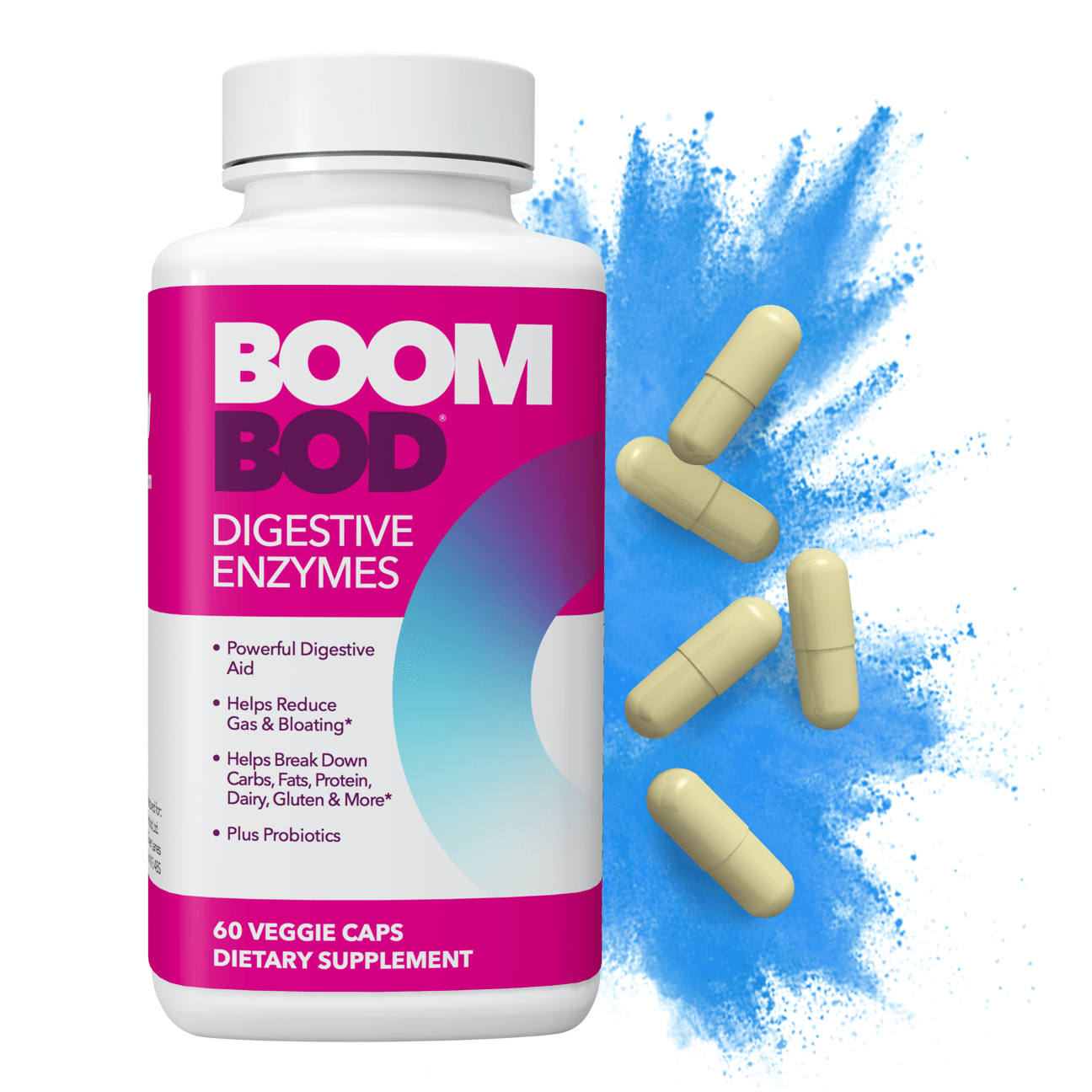 Boombod | Digestive Enzyme Supplement | 30 Day | 60 Count
