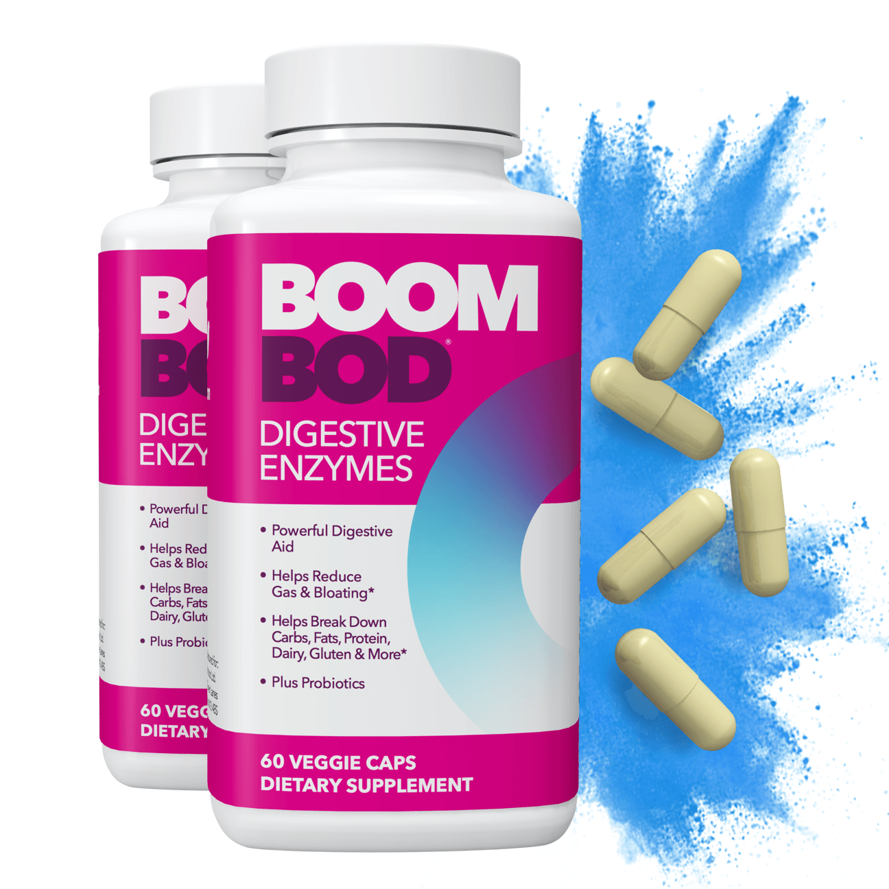 Boombod | Digestive Enzyme Supplement | 60 Day | 120 Count