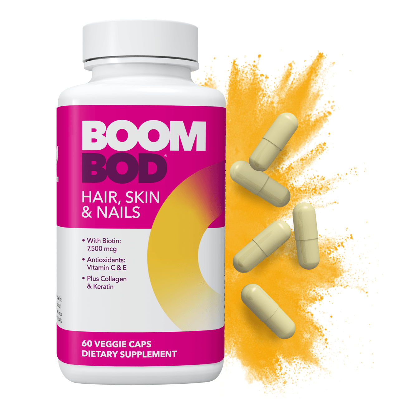 Boombod | Hair, Skin, & Nails Supplement | 30 Day | 60 Count