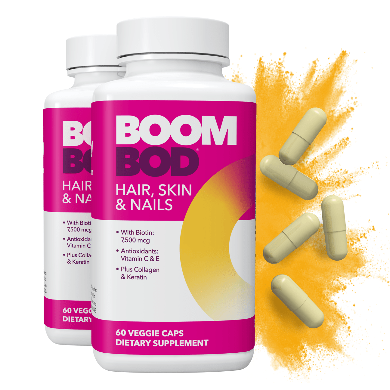 Boombod | Hair, Skin, & Nails Supplement | 60 Day | 120 Count