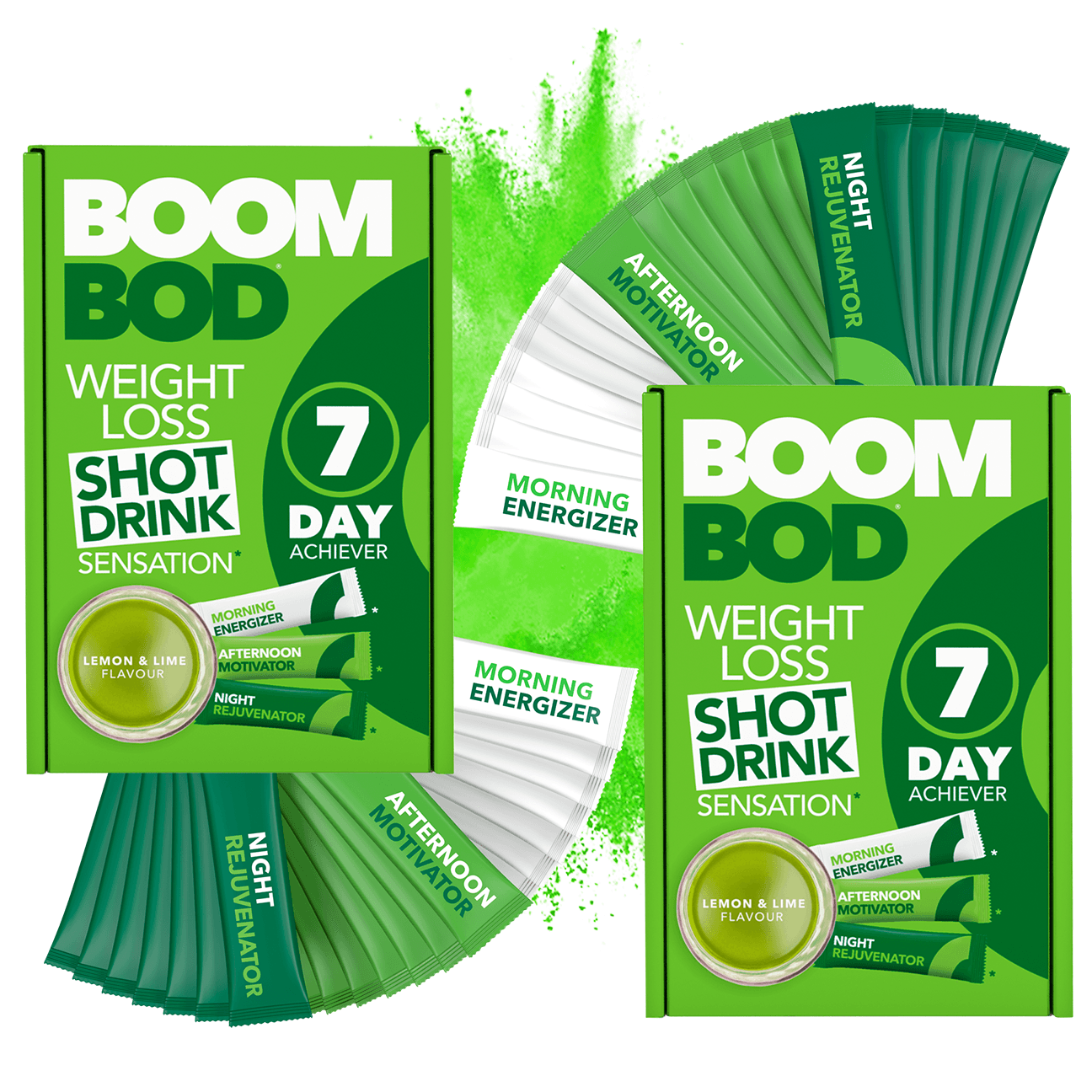 Boombod 14 Day Achiever | Lemon Lime | Weight Loss Shot Drink