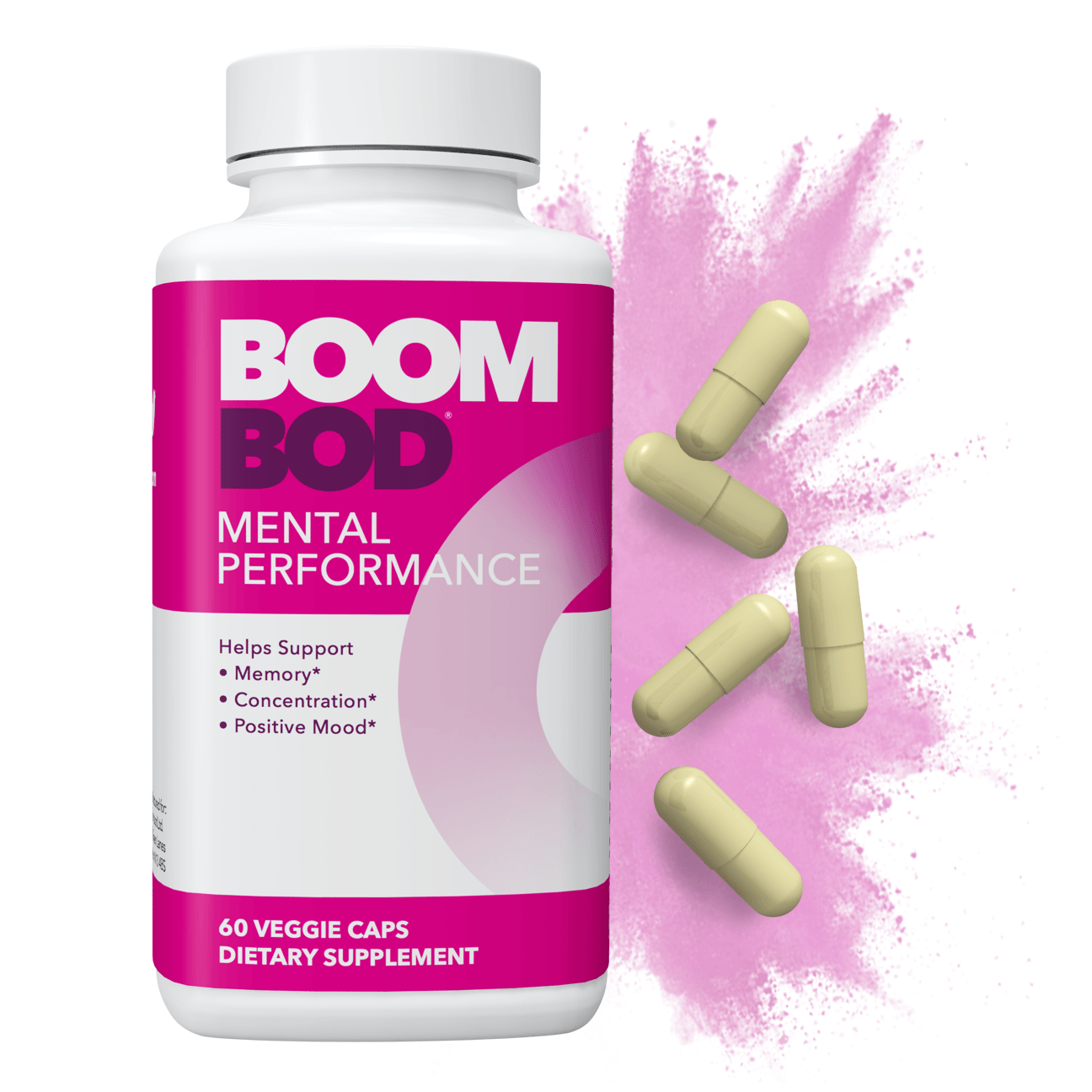 Boombod | Mental Performance Supplement | 30 Day | 60 Count