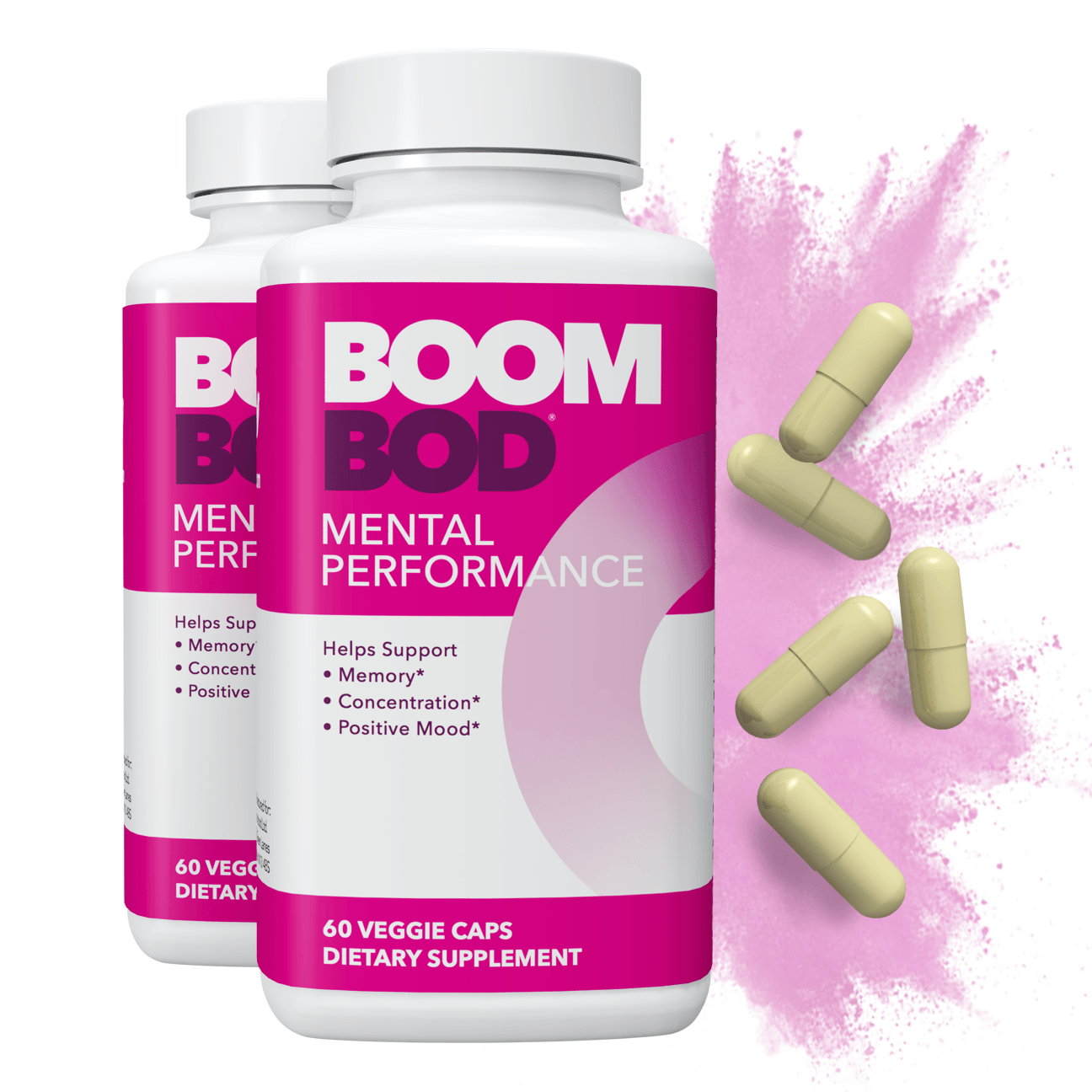 Boombod | Mental Performance Supplement | 60 Day | 120 Count