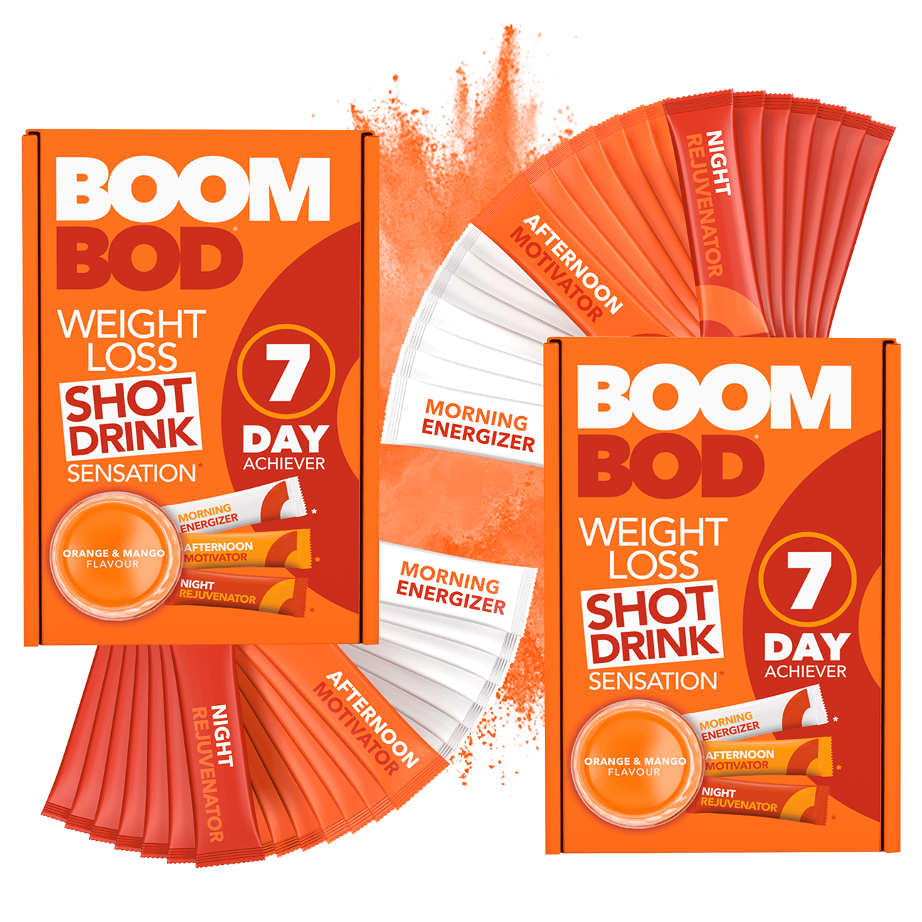 Boombod 14 Day Achiever | Orange Mango | Weight Loss Shot Drink