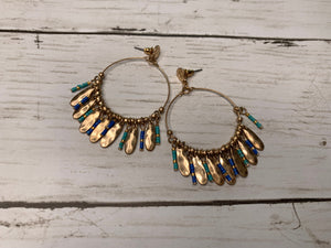 Bead + Charm Hoop Earrings