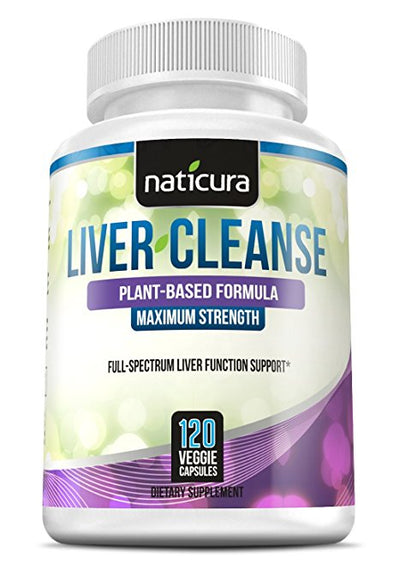 Liver Cleanse Plant Based Detox Supplement - 120 capsules for healthy liver support and detoxification With Milk Thistle, NAC, ALA, GSE & Enzyme Boost