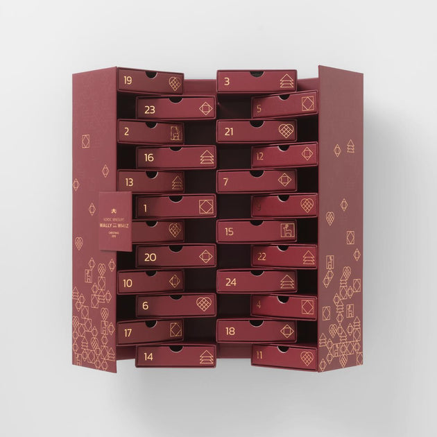 Christmas Advent Calendar Red 2019 24 Drawers