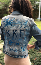 Hand Painted Kappa Kappa Gamma Denim Jacket