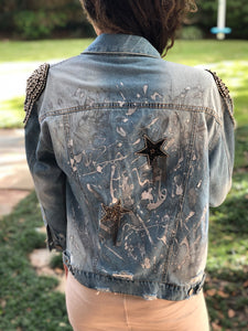 Hand Painted Denim Jacket - Epaulettes