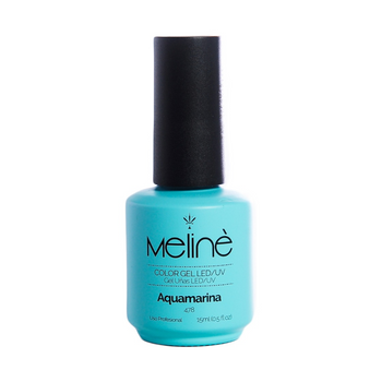 MELINÉ ESMALTE SEMIP.GEL LED/UV X 15 ML-478 AQUAMARINA