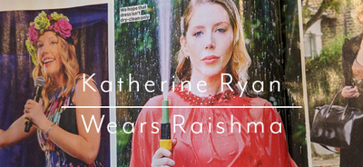 Katherine Ryan featured wearing Raishma in Heat Magazine
