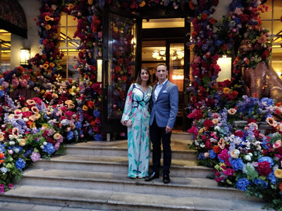 Raishma Showcases Rai Jumpsuit at Kai Mayfair Restaurant