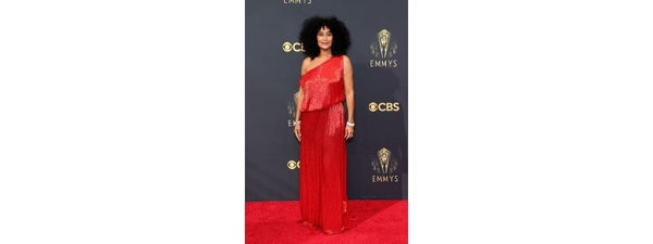 asymmetrical necklines Tracee Ellis Ross Valentino Haute Couture emmys red carpet fashion
