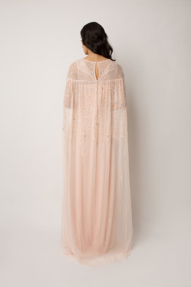 Blush Emilia Cape DressBlush Emilia Cape Dress