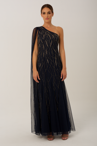 Navy Mila Gown