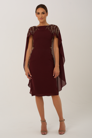 Burgundy Eva Dress