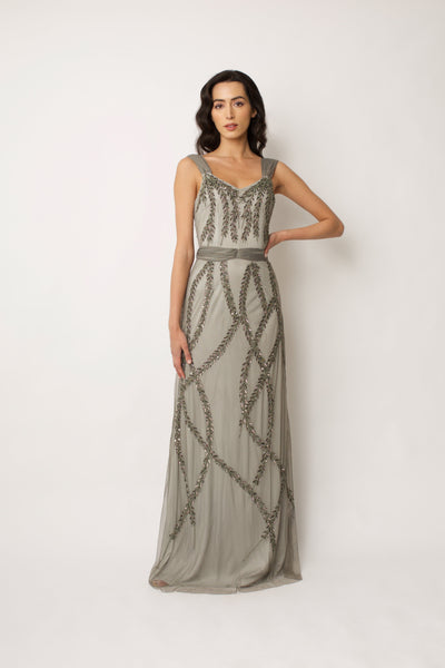 Grey Hattie Gown