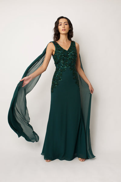 Green Magnolia Gown