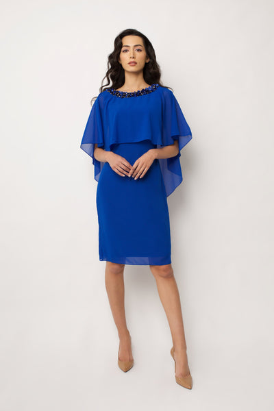 Blue Niara Cape Dress