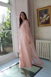Blush Melony Cape Dress