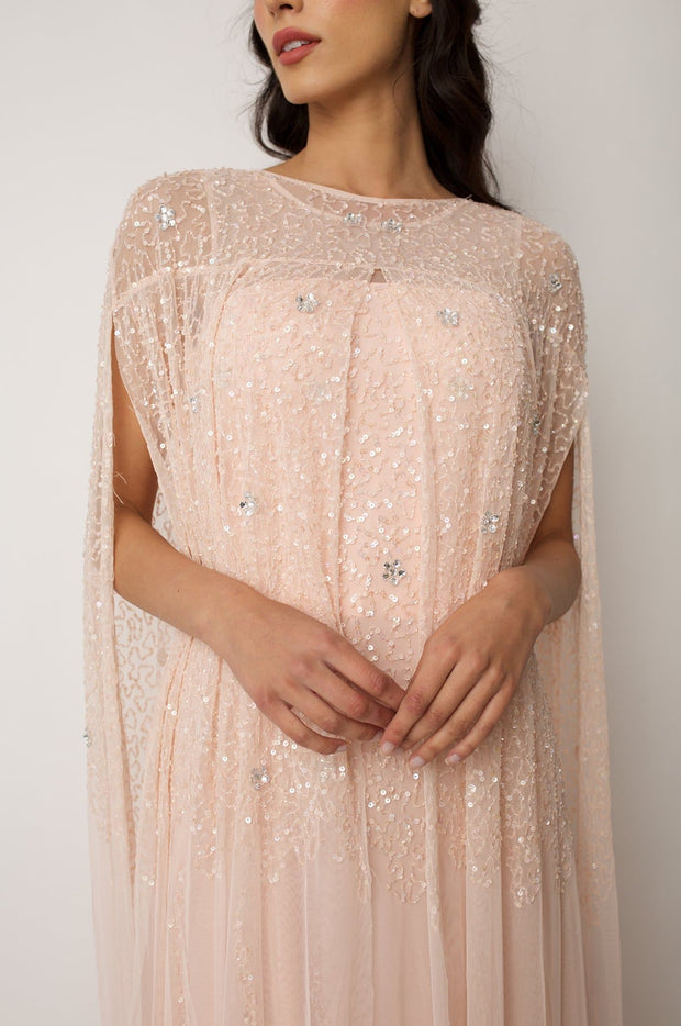 Blush Emilia Cape Dress