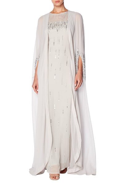 Embellished Gown With Abaya
