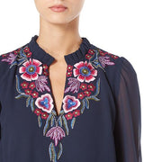 Floral and Frill Blouse