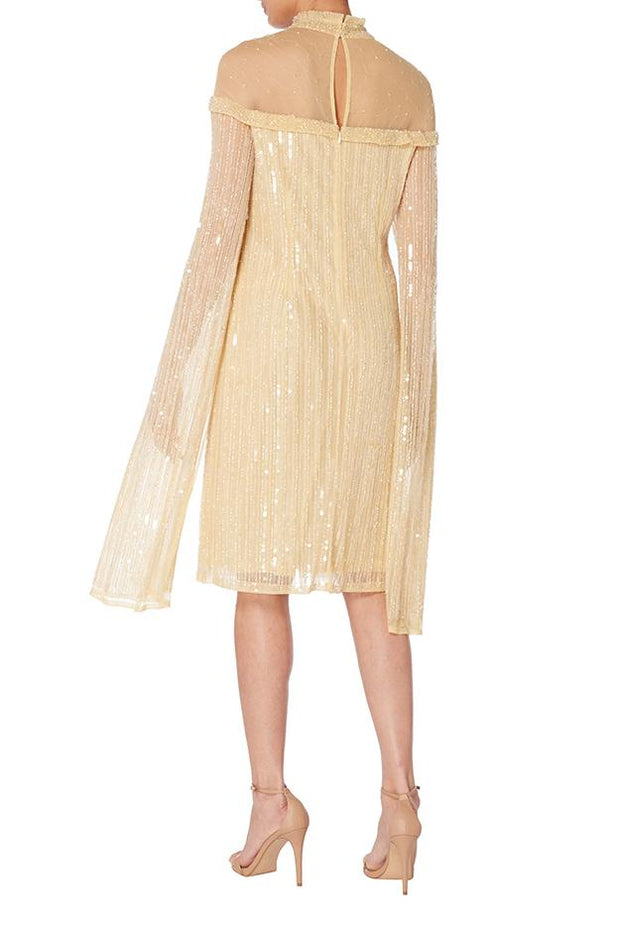 Fully Sequin Dress With Statement Sleeves