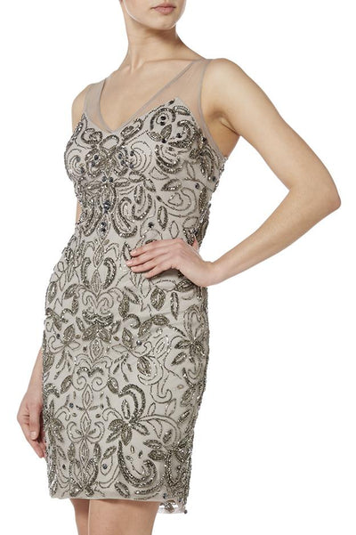 Grey Silver Filigree Dress