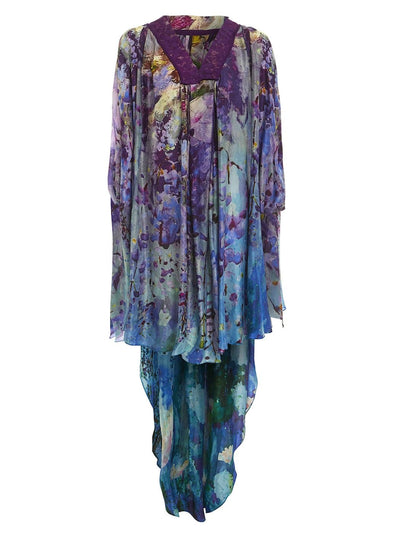 Midnight Iris High-Low Kaftan