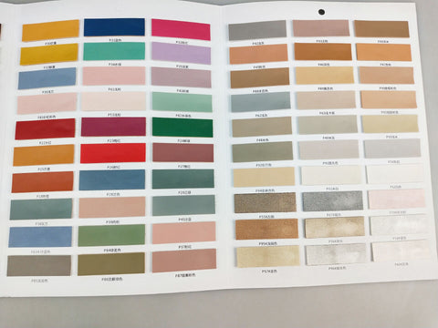 ic: Factory swatches of PU leather