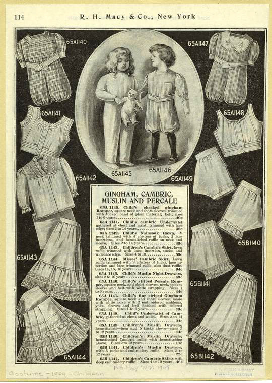 """ic:""""Gingham, Cambric, Muslin And Percale.""""The Miriam and Ira D. Wallach Division of Art, Prints and Photographs: Picture Collection, The New York Public Library."""