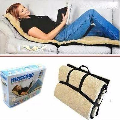 Full Body Massager,Vibration Heat Massage Bed Mattress Sofa Mat Cushion - dreamtoys