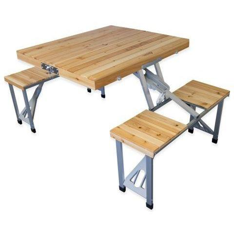 Wooden Folding Portable Camping/Picnic Outdoor Table - dreamtoys