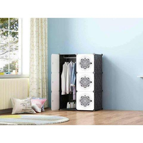 Flower Design 6 Cubes Portable Wardrobe - dreamtoys