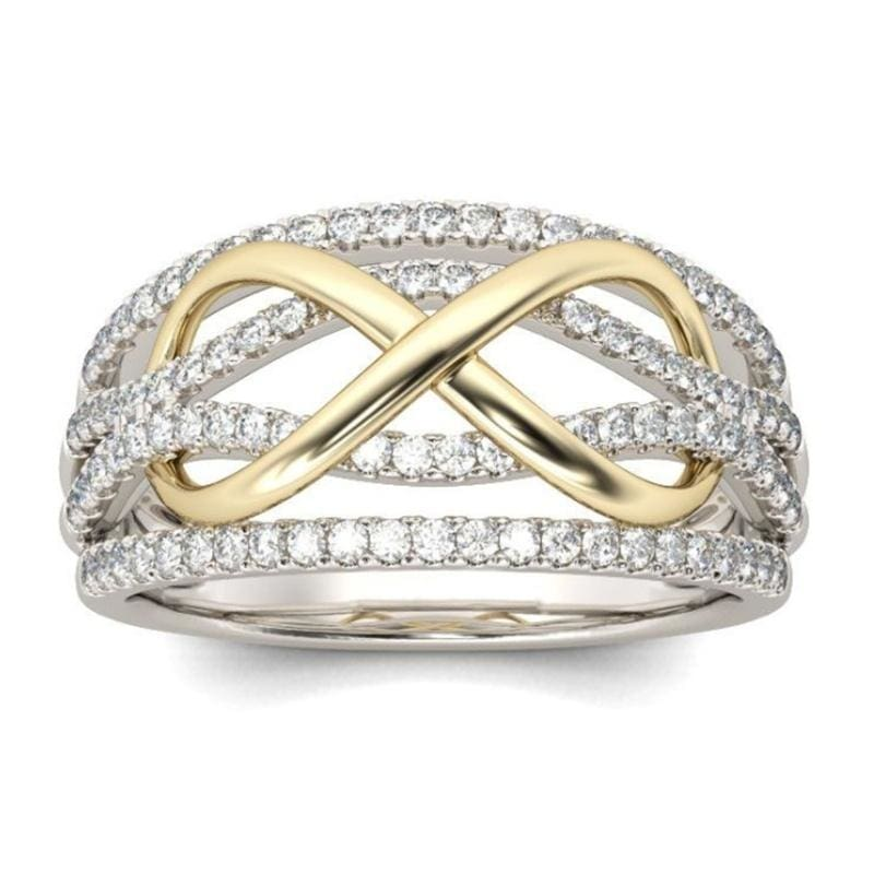 Charm Diamond Ring for Women Elegant Engagement Wedding Love Band Ring Valentines Day Jewelry Gift Size 5-11