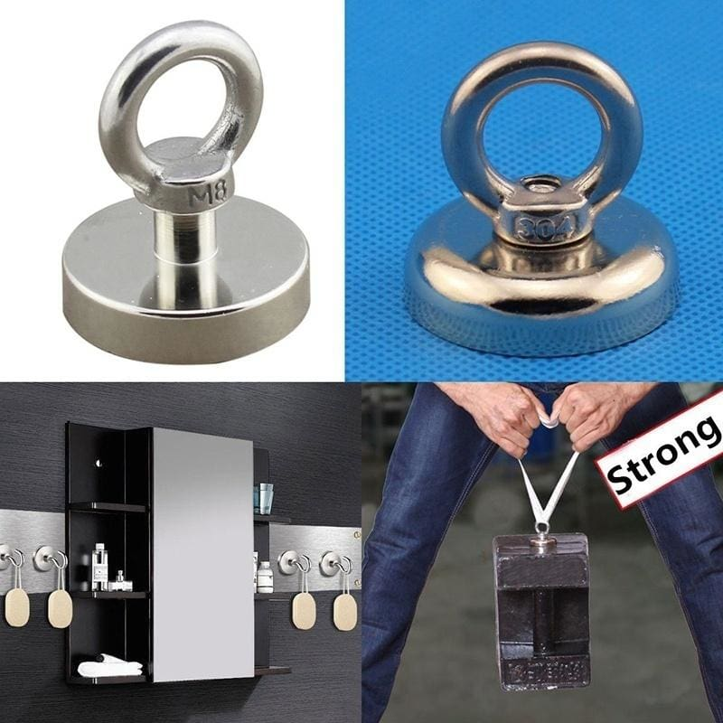 Magnet Strongest Rare Earth Neodymium Magnetic Hanging Hook Holder Bathroom 1Pcs