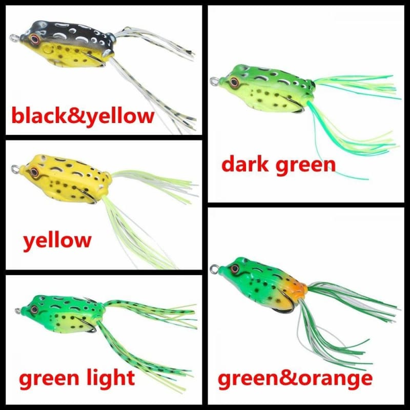 Soft Silicone Cute Frog Topwater Fishing Lure Crankbait Hook Bass Bait Tackle
