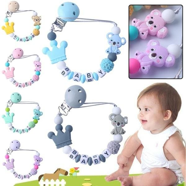 Infant Chew Toys Soother Dummy Clips Nipple Holder Pacifier Chain Baby Teething