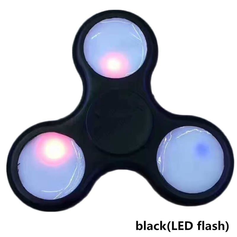 Tri Spinner Fidget Finger Stress Desk Toy EDC ADHD Autism Kid Adult With LED