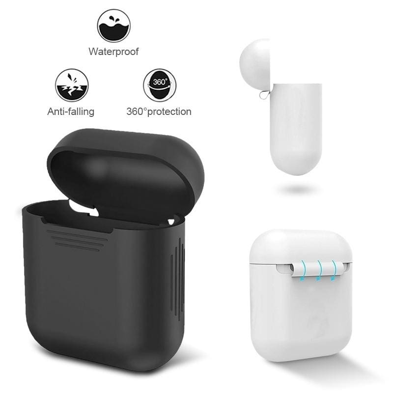 Solid Color Silicone Airpods Headset Protective Case Airpods Protective Sleeve Shockproof Box Cover For Wireless Bluetooth Earphones Fashiontto Best Cheap Online Shopping Site